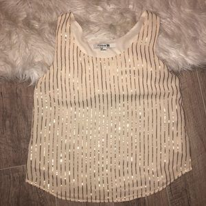 Forever 21 Chiffon Shell Top with Sequins